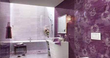 dekorasi kamar mandi dengan dinding keramik yang indah