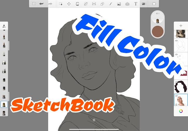 How to Fill Color in Autodesk SketchBook App