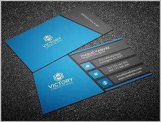 blank visiting card design psd