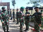 Dankolakops Pamtas RI-RDTL Kolonel Inf Samuel Petrus Hehakaya, S.E Kunjungi Mako Satgas Pamtas Yonif Raider 142/KJ