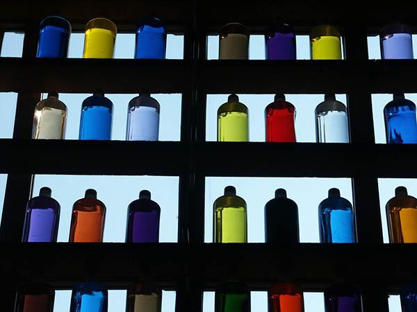 I colori al museo delle ocre Luberon