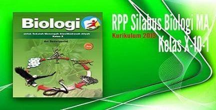 RPP Silabus Biologi MA Kelas X (10-1) Kurikulum 2013 Revisi