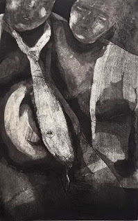 Aguafuerte de la artista Rocío Bucheli.
