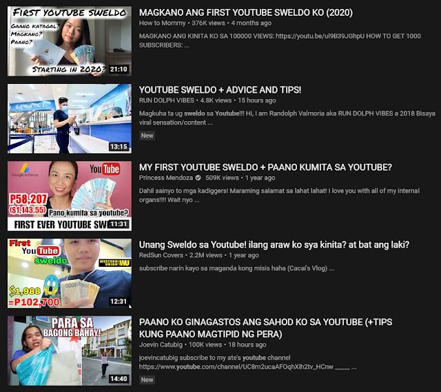 Youtube Sweldo
