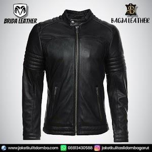 Jual Jaket Kulit Asli Garut Pria Domba Original Brida Leather B47   WA 08813430588