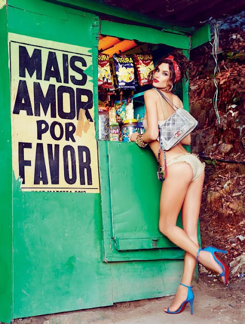 Photo of Alessandra Ambrosio Shot by Ellen von Unwerth for Vogue Brazil