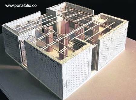 Maqueta de casa modular económica