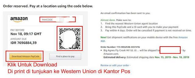 Kode Pembayaran Amazon