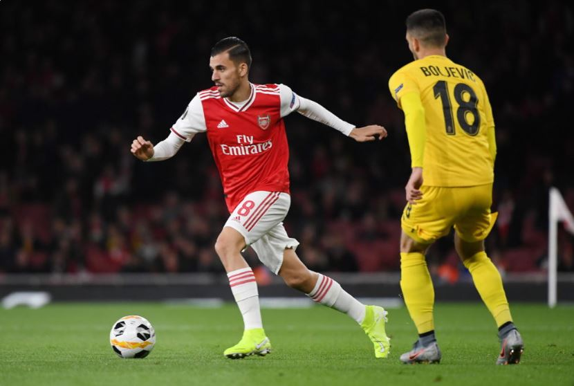 Real Madrid loanee Dani Ceballos in action for Arsenal
