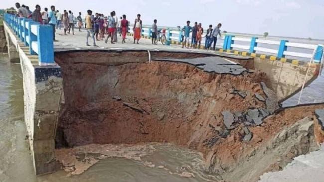 नितीश कुमार सरकार मध्ये 263 करोड़ ख़र्च करुण सुद्धा एका महिन्यात पूल टुटला.