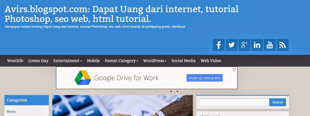 Pasang Iklan Google Adsense Di Bawah Header