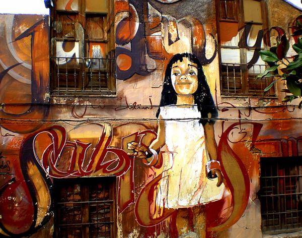 Grafiti atau Lukisan Dinding anak kecil