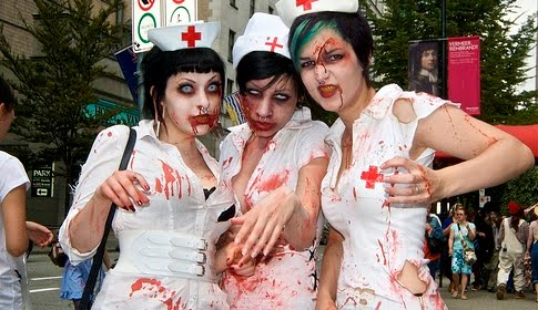 zombie slut nurses with blood