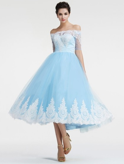 http://uk.millybridal.org/product/amazing-ball-gown-off-the-shoulder-tulle-appliques-lace-tea-length-1-2-sleeve-prom-dresses-ukm020103036-18431.html?utm_source=post&utm_medium=1174&utm_campaign=blog