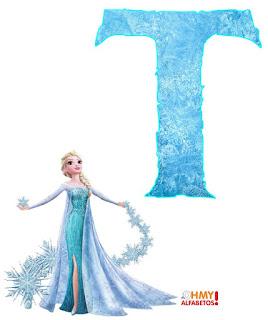 Alfabeto de Elsa de Frozen Haciendo Magia.  Elsa of Frozen Alphabet.