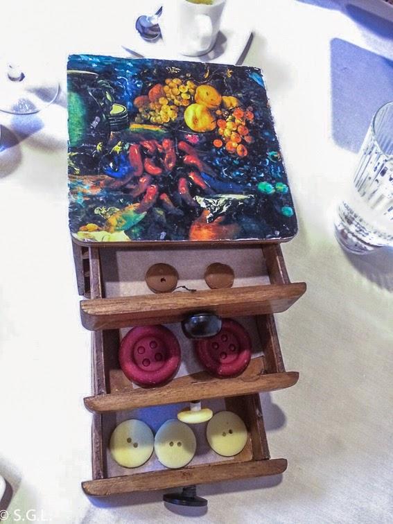 Chocolates en forma de boton en el restaurante Etxanobe en Bilbao