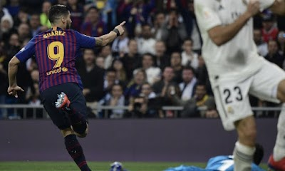 برشلونة يهزم ريال مدريد على ملعبه بثلاثية ويتأهل إلى نهائي كأس ملك إسبانيا