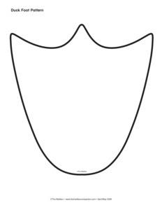 molde pata Disfraz casero de ganso