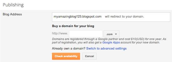 publishing domain