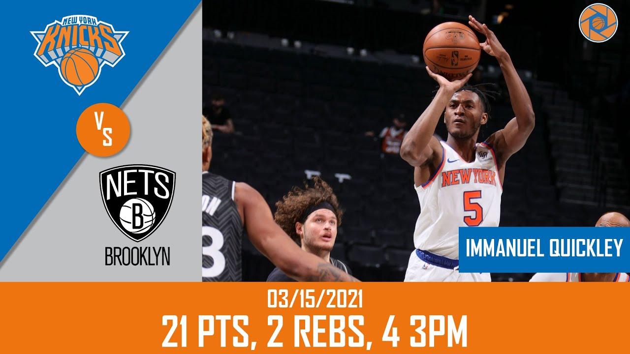 Immanuel Quickley 21pts vs BRK   March 15, 2021   2020-21 NBA Season