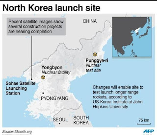 Korean missiles were seen transported from a rocket facility