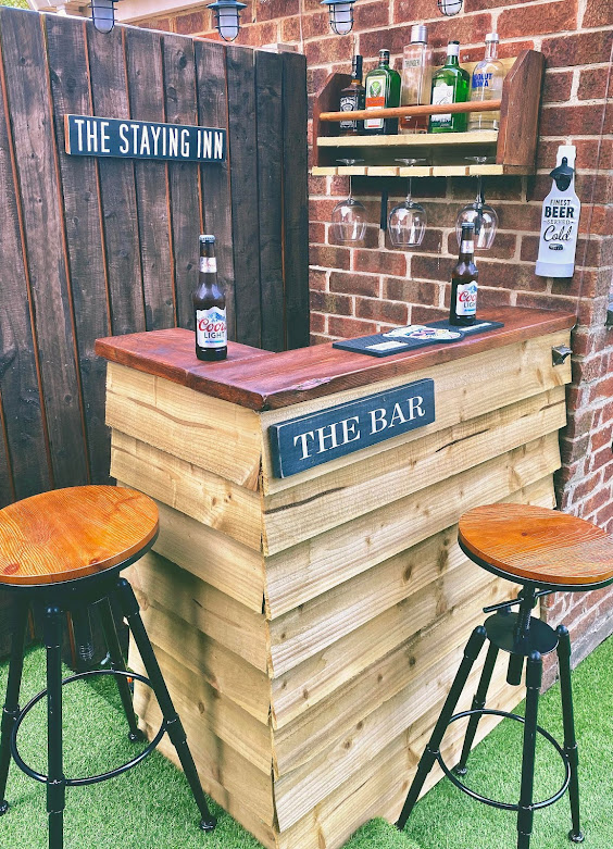 DIY Home bar garden man cave wooden pallets easy