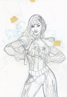 The Bombshellter: X-Men #8 Cover Step by Step