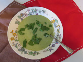potato and wild leek soup