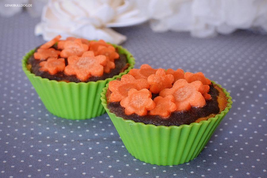Karotten Muffins für Hunde