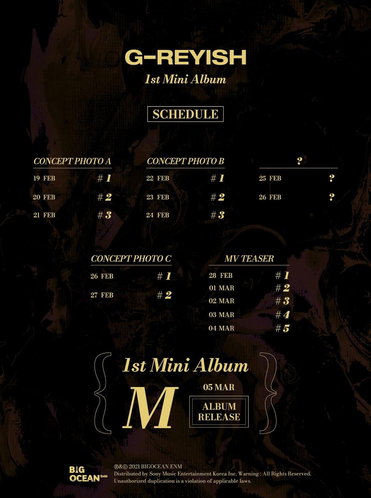 g-reyish m comeback schedule
