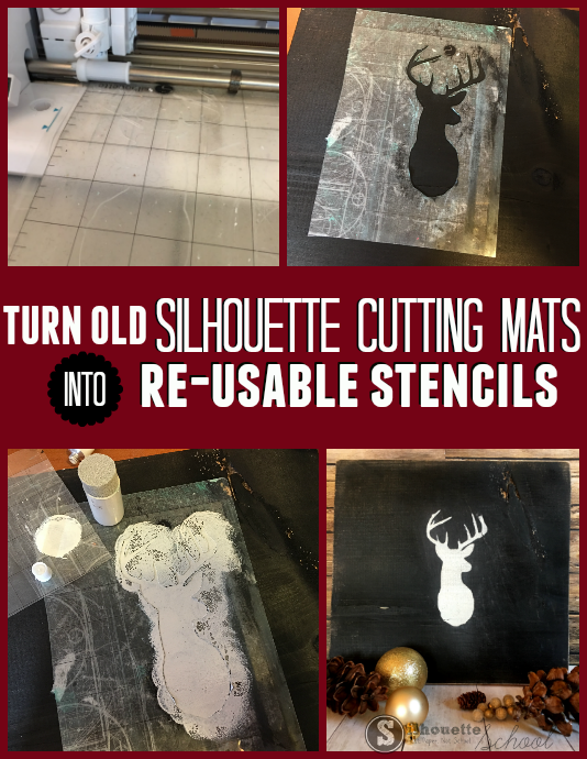 turn old cutting mats into stencils silhouette paint wood signs silhouette cameo tutorial