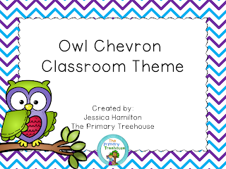 https://www.teacherspayteachers.com/Product/Owls-and-Chevron-Classroom-Theme-Decor-EDITABLE-1940006