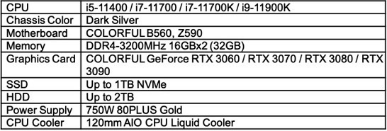 specifications of igame m600 mirage gaming pc