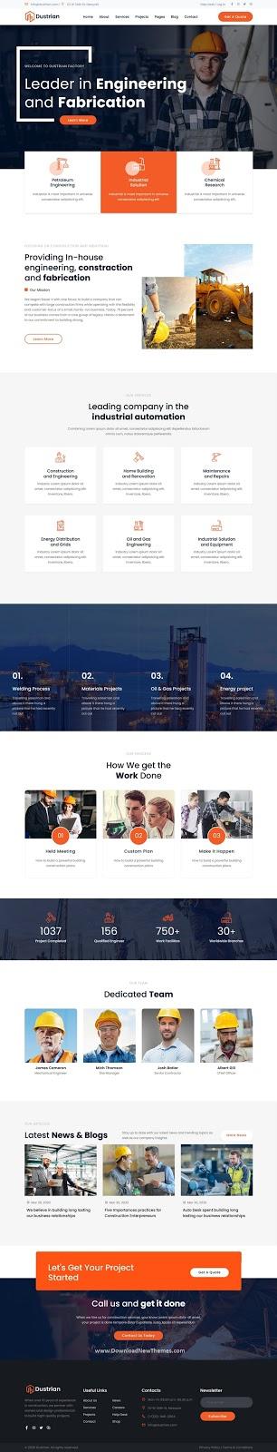 Factory & Industrial Website Template