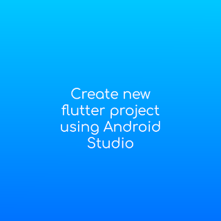 flutter create android studio