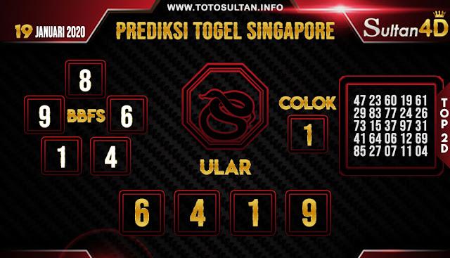 PREDIKSI TOGEL SINGAPORE SULTAN4D 19 JANUARI 2020
