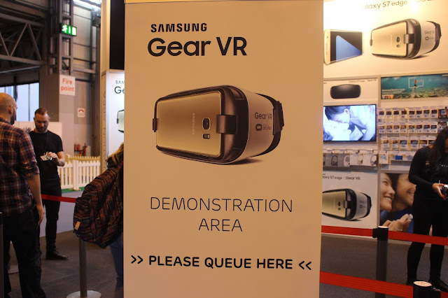 photograph of the Samsung Gear VR Booth at The Gadget Show Live 2016