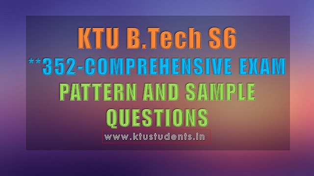 COMPREHENSIVE EXAM MODEL SAMPLE QUESTION PAPER