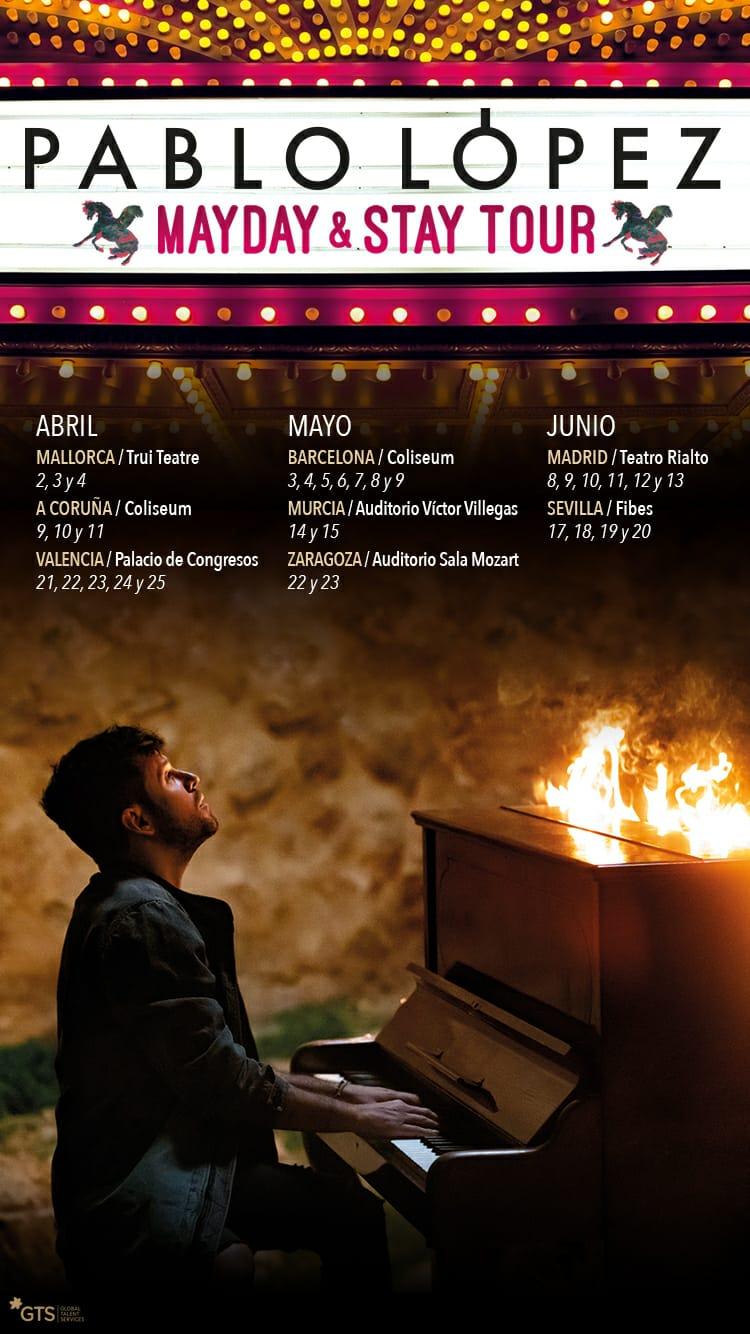 Club de fans oficial de Pablo López: MAYDAY & STAY TOUR