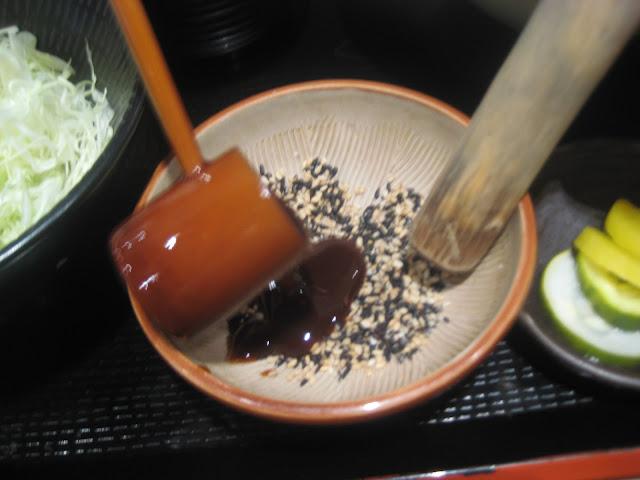 yabu house of katsu-sesame and sauce