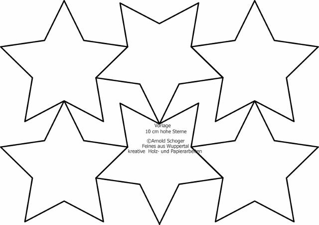 5 Zack Sterne Vorlagen Als Laubsägevorlage Oder Als Fotokarton