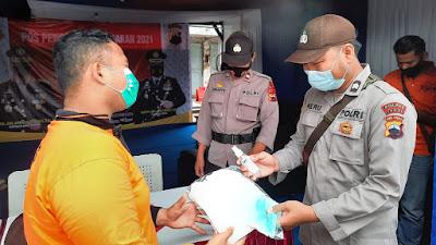 Operasi Ketupat Candi 2021, Subsatgas Dokkes Bagikan Masker dan APD Kepada Petugas
