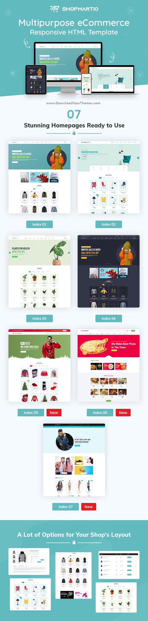 ShopMartio - Multipurpose eCommerce Responsive HTML Template