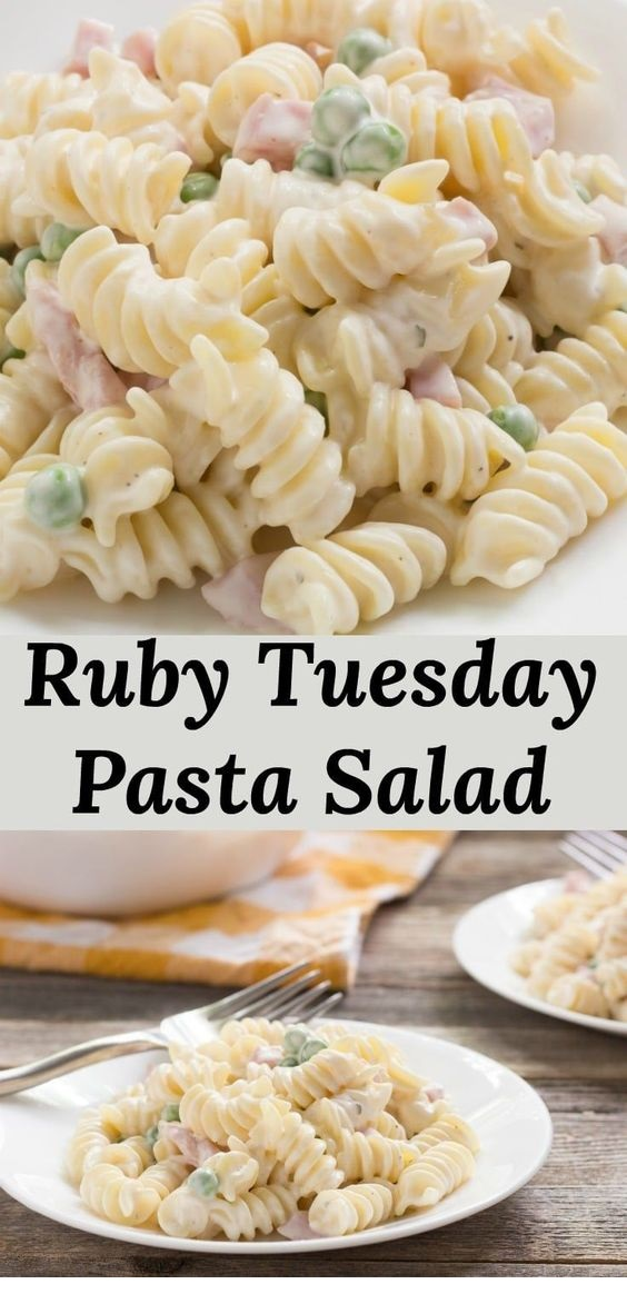 Ranch Style Pasta Salad With Ham And Peas, Like Ruby Tuesday