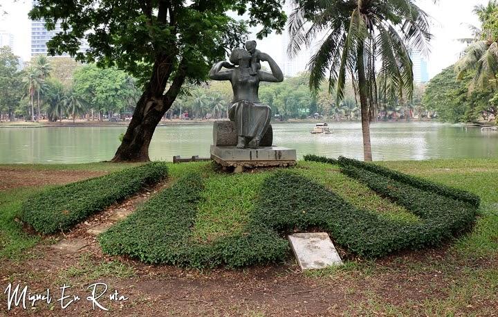 Estatua en el Parque Lumpini, Bangkok