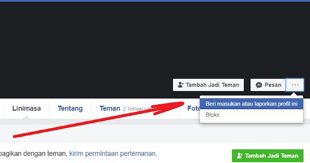 Cara melaporkan akun facebook Palsu