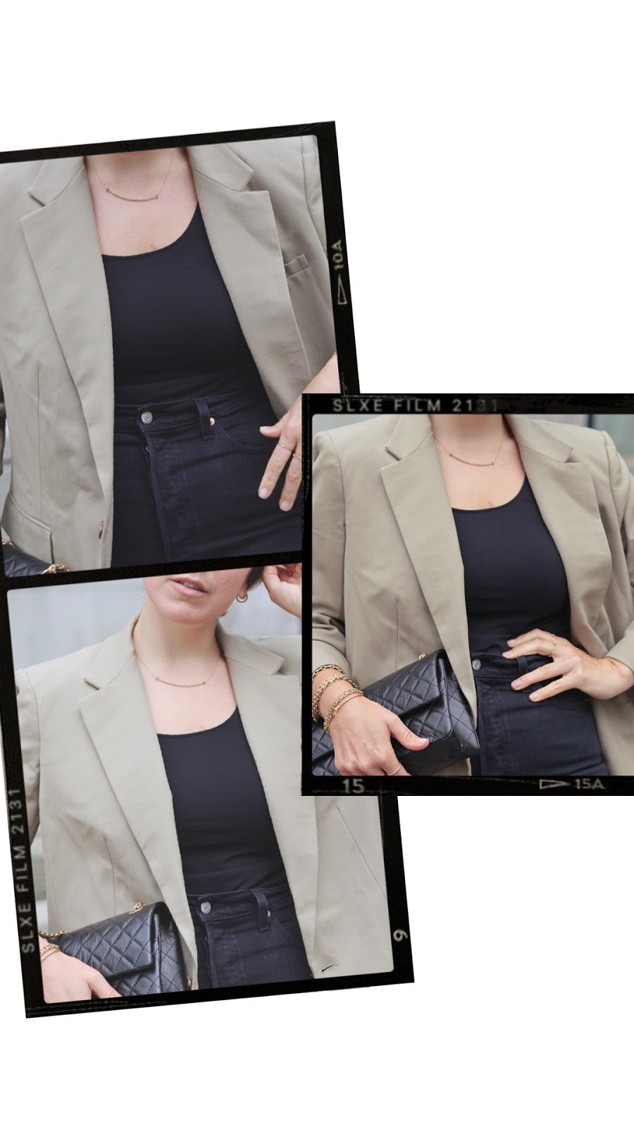 aritzia agency blazer outfit oversized blazer levis ribcage jeans le chateau heels