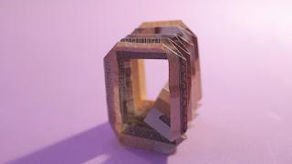 how to make money 3d origami alphabet Q easy hướng dẫn cách gấp chữ Q bằng tiền giấy