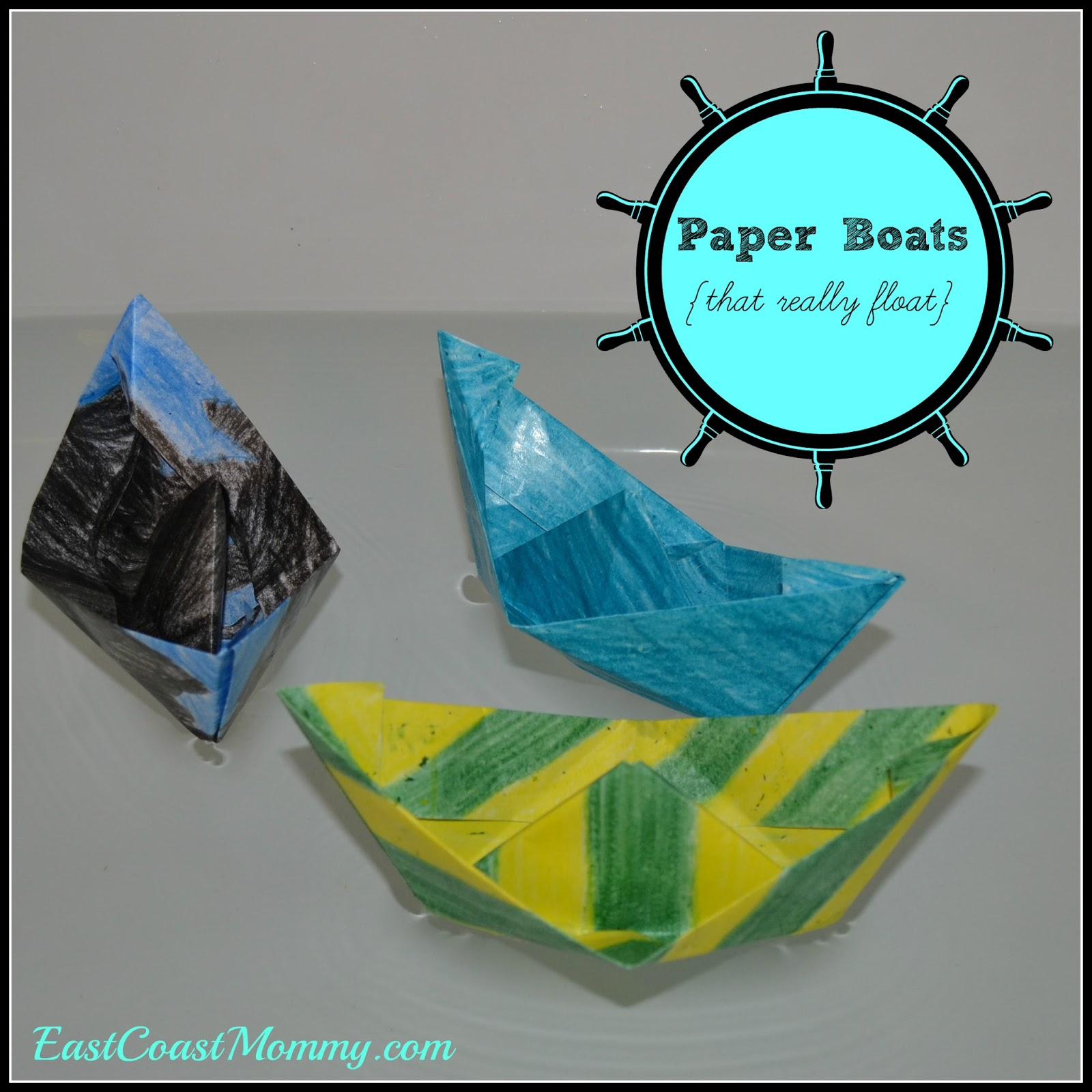 East Coast Mommy Paper Boat Tutorial Old Fashioned Paper Craft