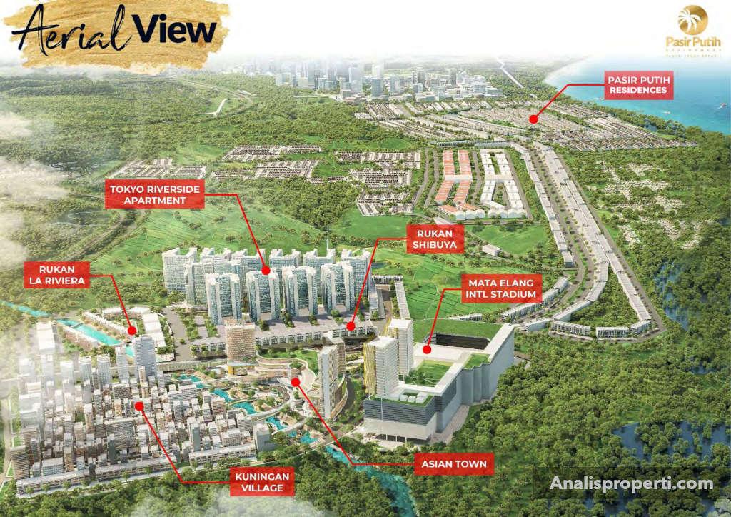 Aerial View Villa Pasir Putih PIK 2 Jakarta
